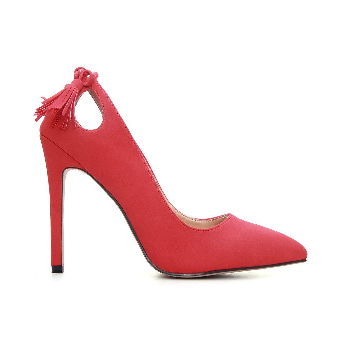 91f25a1efe8 Tassel Pointed Toe High Heels - US 39.95 -YOINS