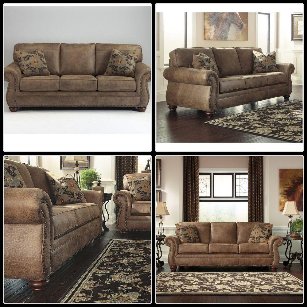 Twin loft bed craigslist  Details about Rustic Faux Leather Sofa Wooden Frame Plush Pillow