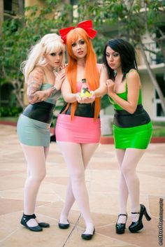 Sexy powerpuff girl costumes