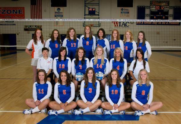 2012 Uw Platteville Volleyball Team Volleyball Team Volleyball Teams