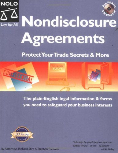 Nondisclosure Agreements Protect Your Trade Secrets And More The Plain English Legal Information Forms You Need To Business Trade Secret Business Planning