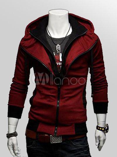 Assassin's Creed Desmond sweat beau noir à la mode en coton