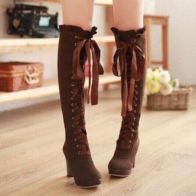Japanese kawaii bowknot boots from Fashion Kawaii