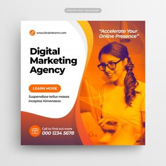 Digital Business Marketing Social Media Post & Web...