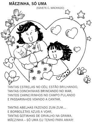 Atividades Para Maternal Creche E Bercario Poesia Dia Das Maes
