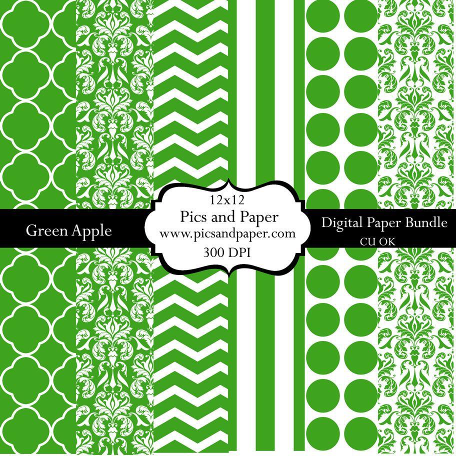 free digital scrapbooking paper greenwhite digital