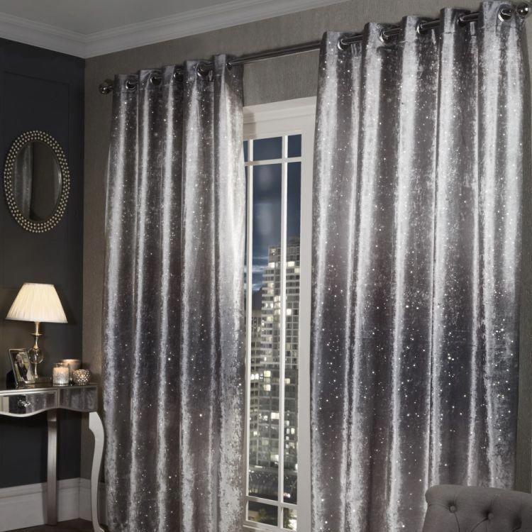 The Glittery World Of Silver Bedroom Ideas: Crushed Velvet