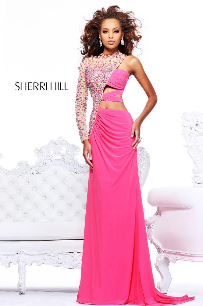 2013 Sherri Hill 21002 Coral Nude Homecoming Dresses | Sherri Hill ...