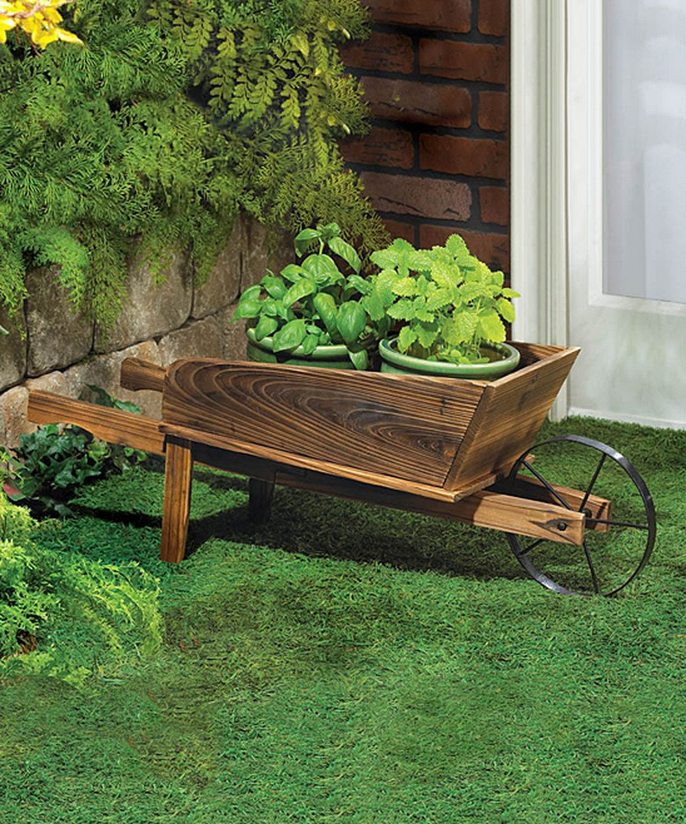 Look at this Wheel Barrow Planter on #zulily today! | Dream Home ...