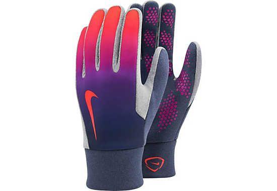 Nike Hyperwarm Field Player Gloves - Blue Nike Gloves