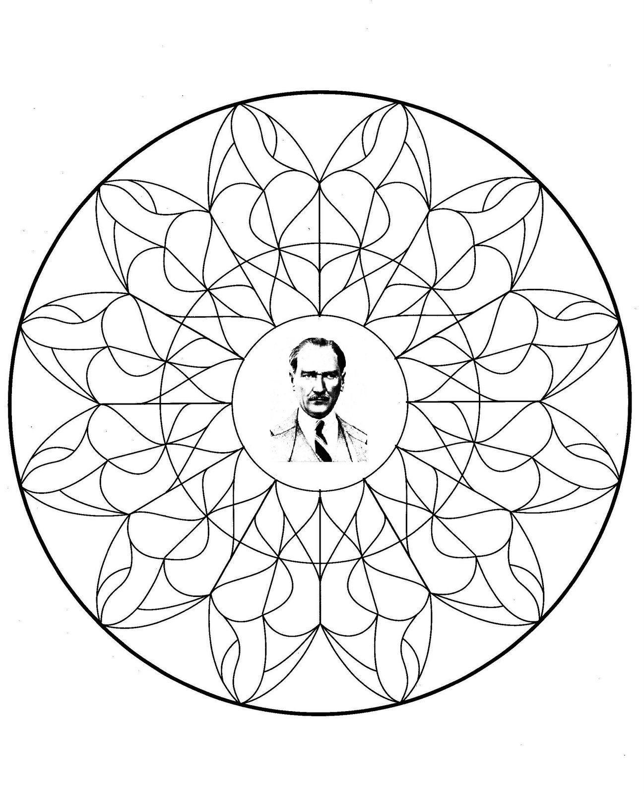 Atatürk Atatürkboyama Boyama 10kasımboyama A4 Mandala Mandala