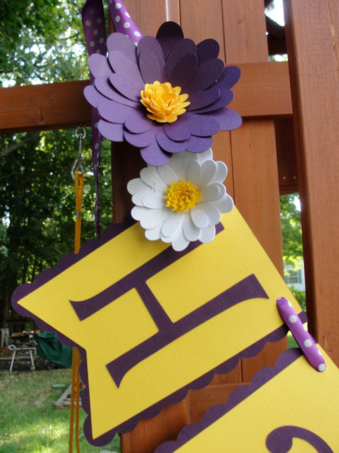 Happy Birthday BannerPurple & Yellow with by giftsbybrookemyer, $28.00