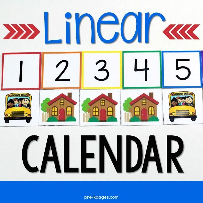 Linear Calendar Kit Calendar time, Kindergarten classroom and