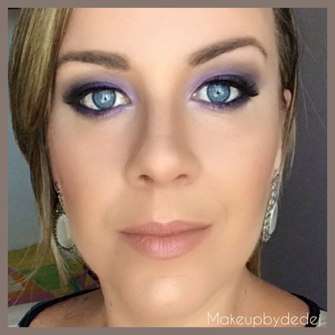 Esfumado com roxo. #makeupbydedei
