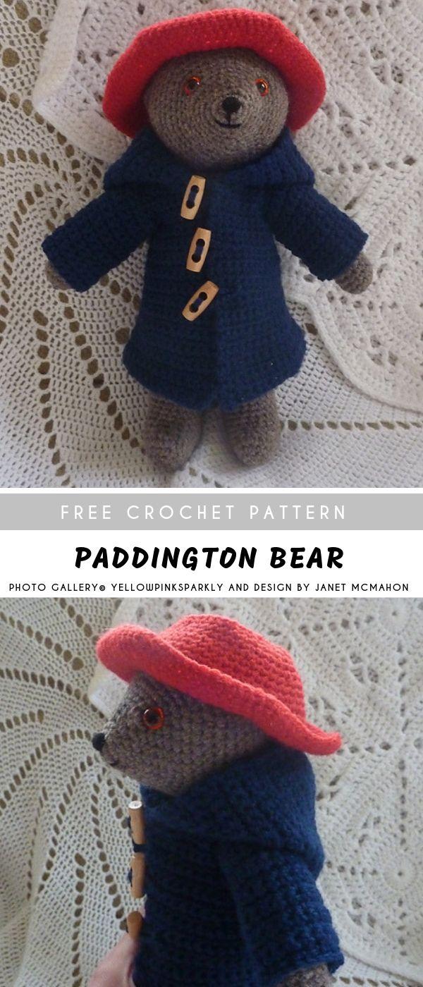 Paddington Crochet Bear with Free Pattern #crochetbear