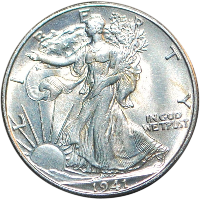 Us Walking Liberty Half Dollar Unc Coin 1941 D Half Dollar Coins Silver Bullion Coins