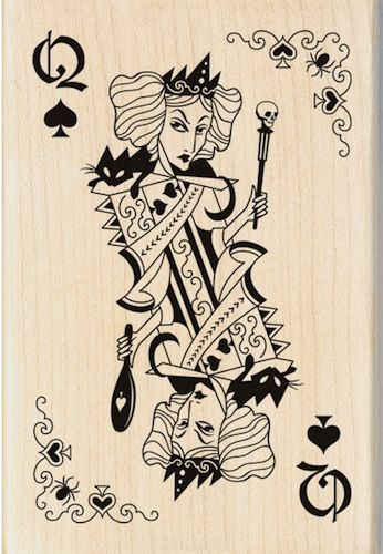 Witch Queen Playing Card Rubber Stamp With Images Playing