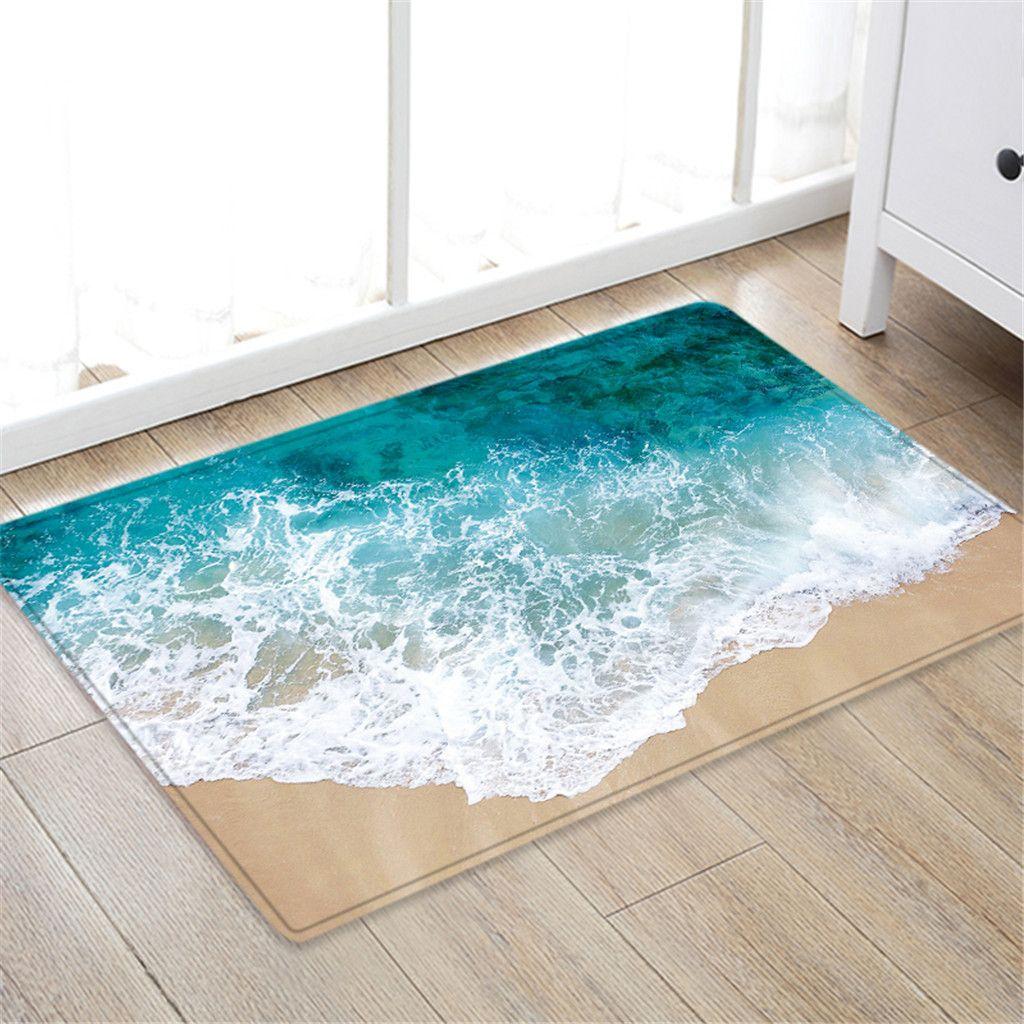 50x80 Cm Carpet Hallway Doormat Anti Slip Carpet Absorb Water