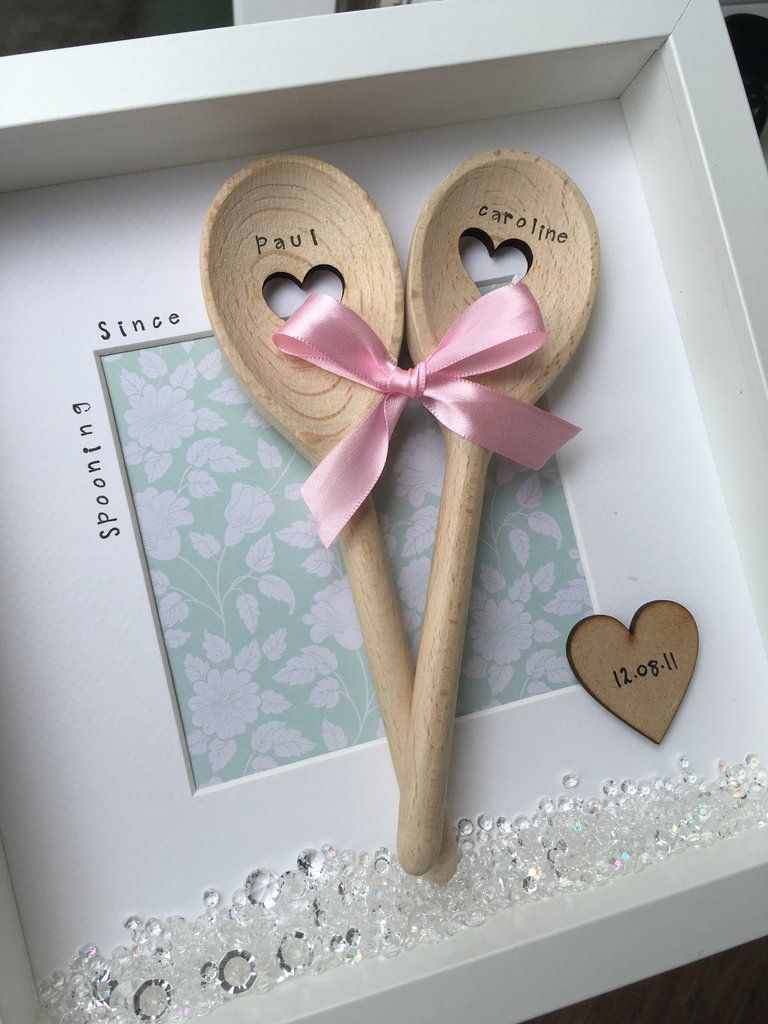 Personalised Spooning Since Frame Anniversary Wedding Gift