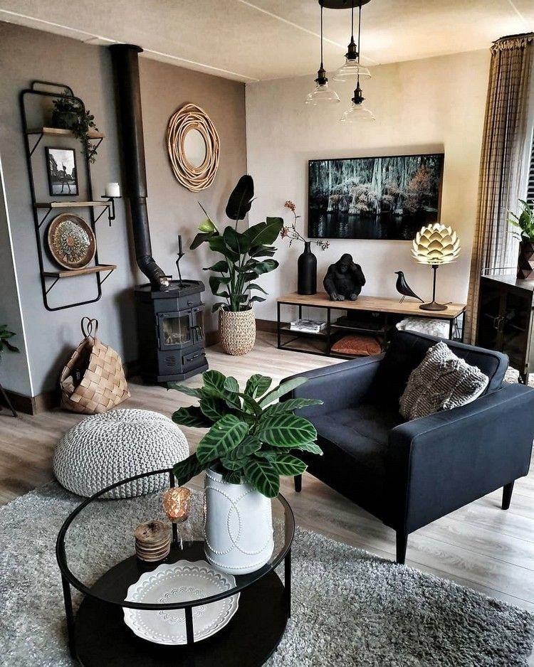 Photo of This room would look fantastic with a brickwall in which the gray wall …