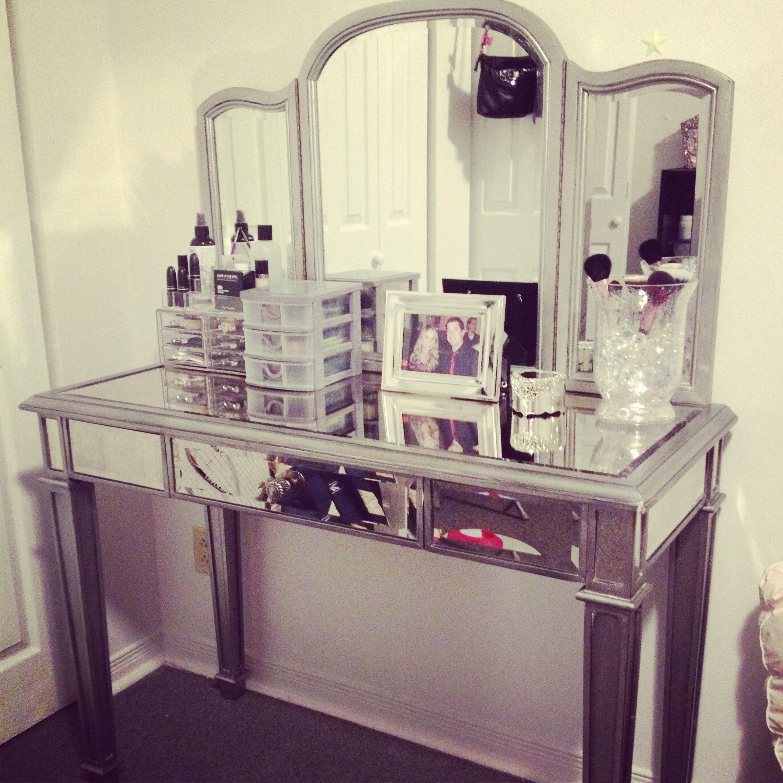 Hayworth Vanity Mirrored Bedroom Furniture Makeup Rooms Beauty Room