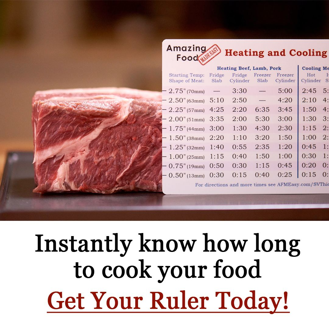 Sous Vide Cooking Times By Thickness Amazing Food Made Easy Sous Vide Cooking Times Sous Vide Recipes Sous Vide
