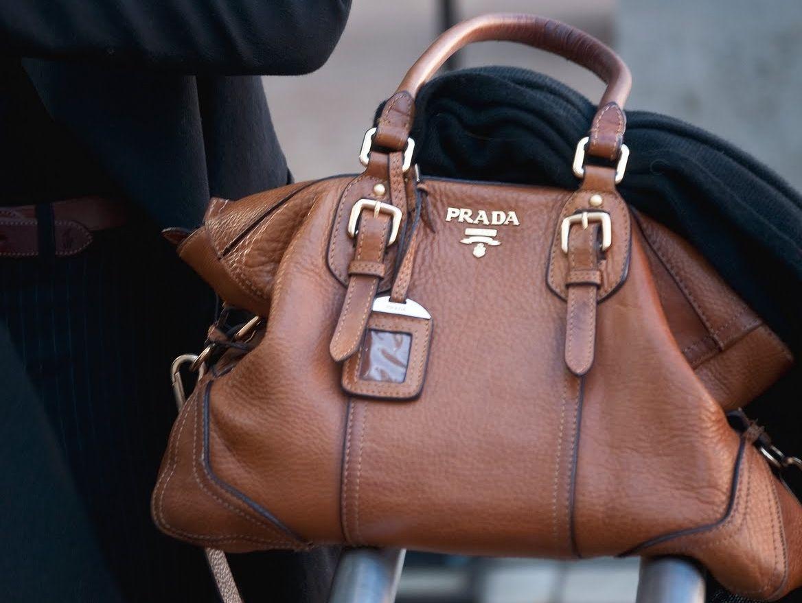 Every Needs A Brown Leather Bag Prada Purses