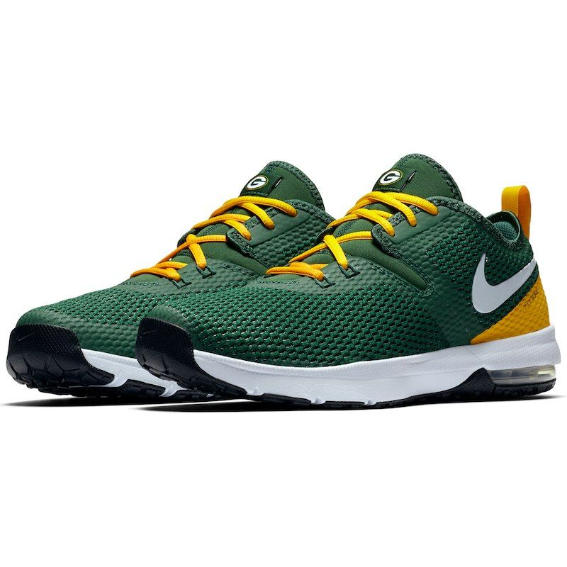 Green Bay Packers Nike Air Max Typha 2 Shoes GreenGold in