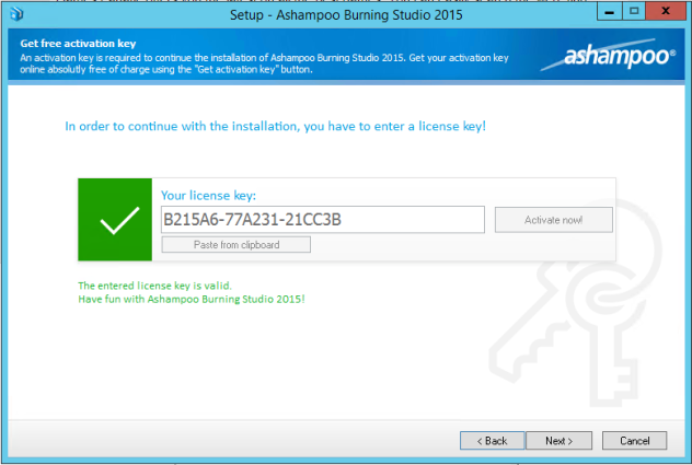 ashampoo burning studio 18 serial key free