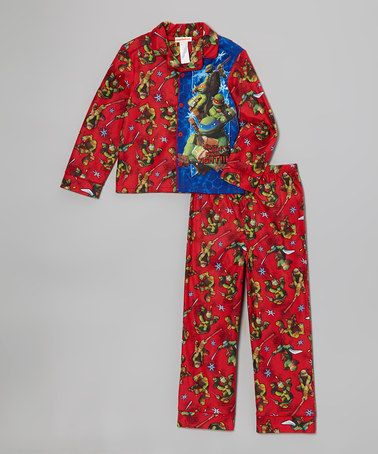 Take a look at this Red TMNT 'Silent Night Ninja Fight' Pajama Set - Boys by Teenage Mutant Ninja Turtles on #zulily today!