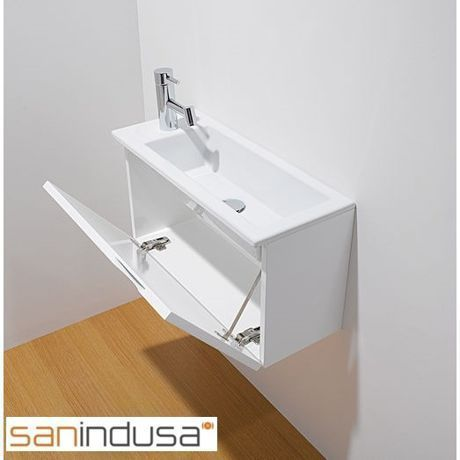 White Washbasin Unit 39 Alicante 39 Sanindusa Petit Lavabo Lave Main Wc Meuble Lave Main