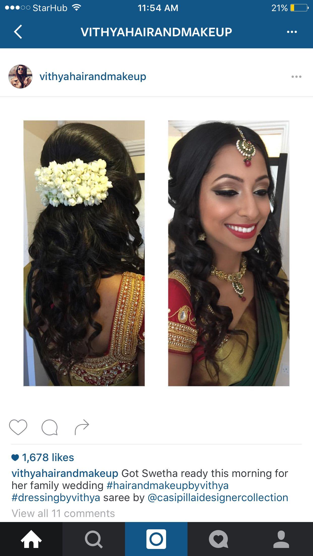 simple elegant indian wedding hairstyle   indian wedding