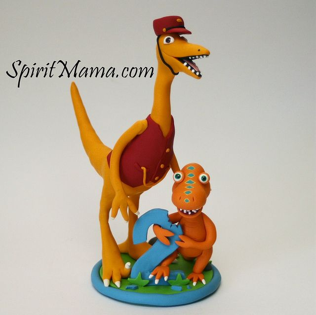 Dinosaur Train Birthday Cake Topper by SpiritMama, via Flickr