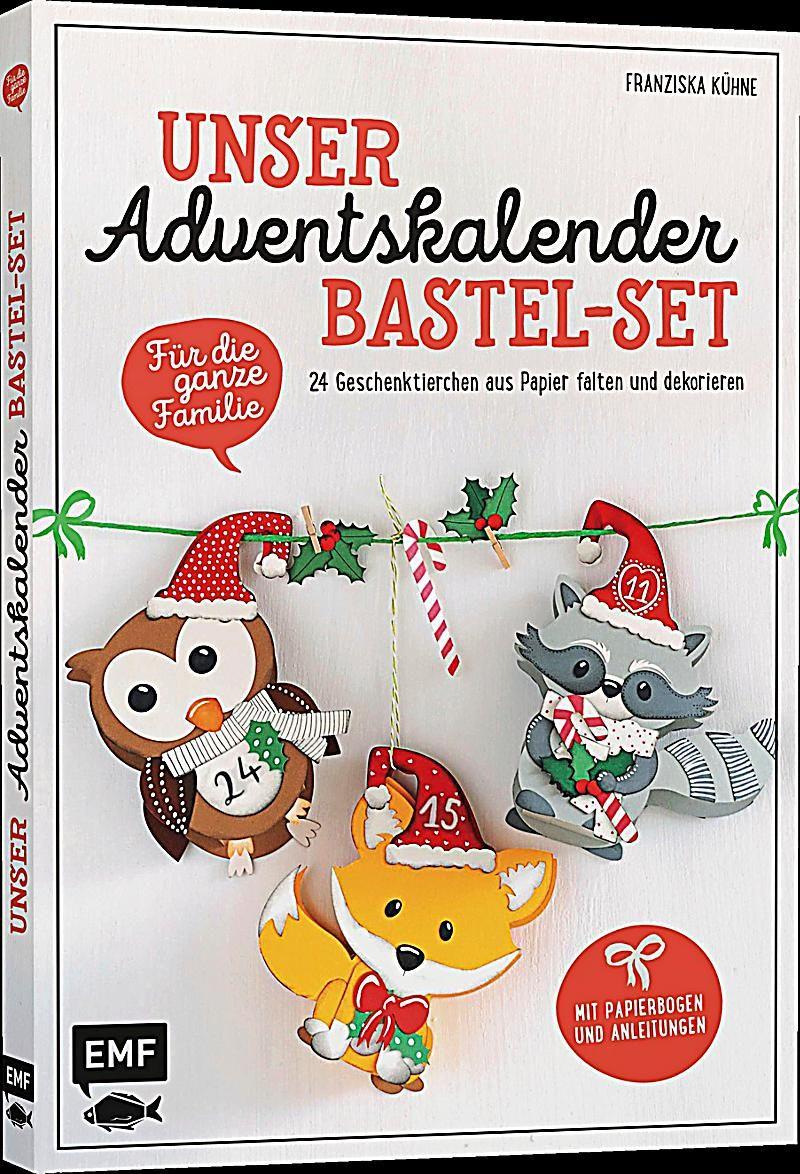 Unser Adventskalender Bastel-Set - Für die ganze Familie. Franziska Kühne,. Kartoniert (TB) - Buch