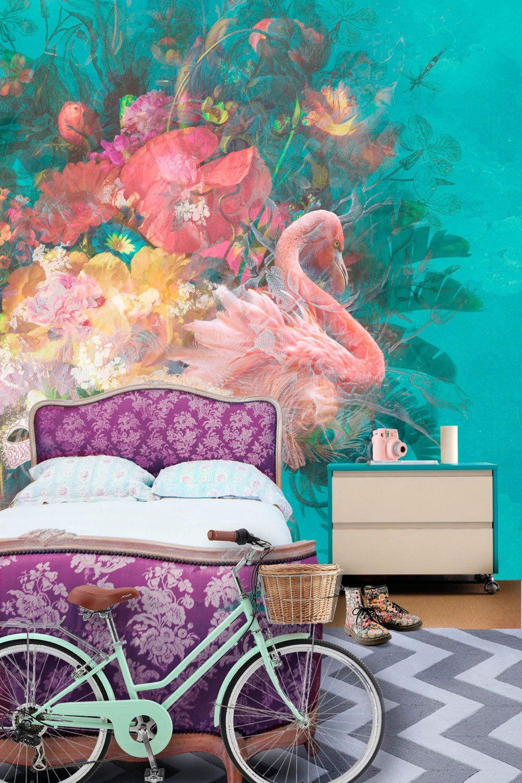 Flamingo / Design Modern mural, Mural, Wall murals