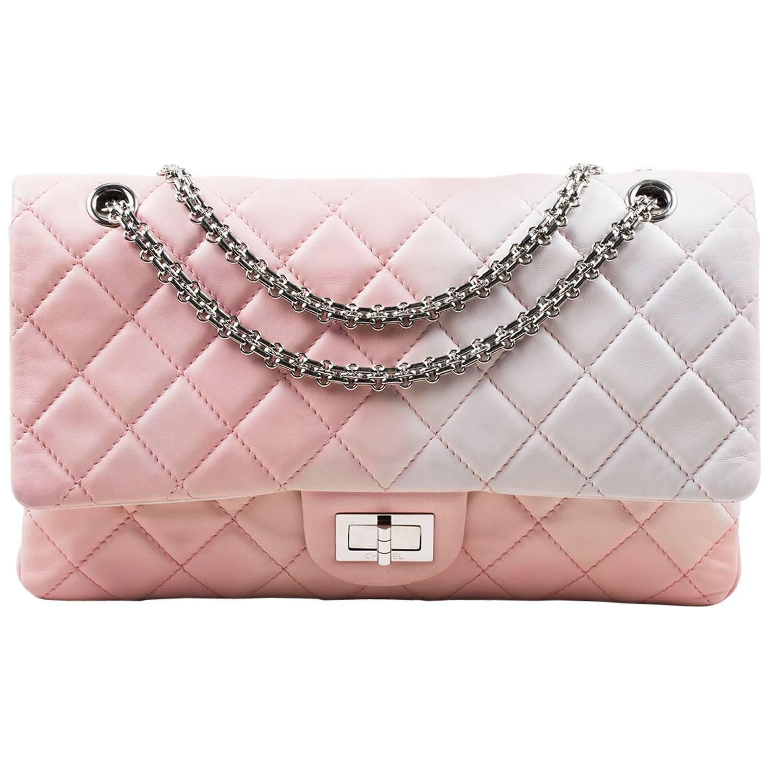 59e7d48a83f6 Chanel Pink White Leather Ombre Degradé