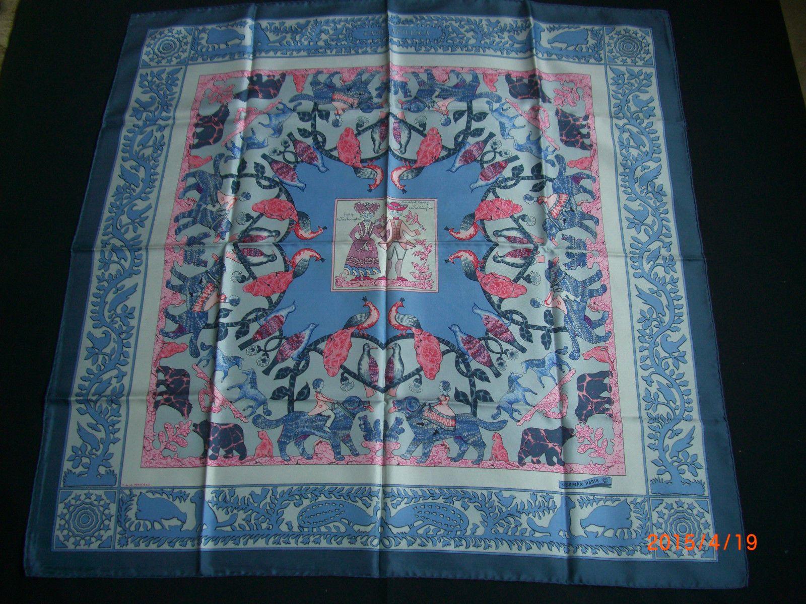 Rare Vintage Hermes Early America Silk Scarf | eBay ...