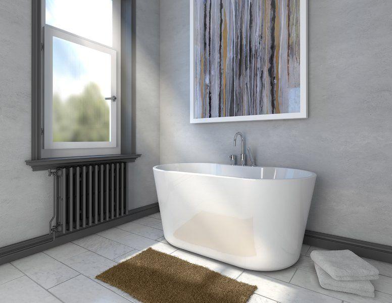 56 X 31 4 Freestanding Soaking Bathtub Soaking Bathtubs Bathtub Vintage Tub