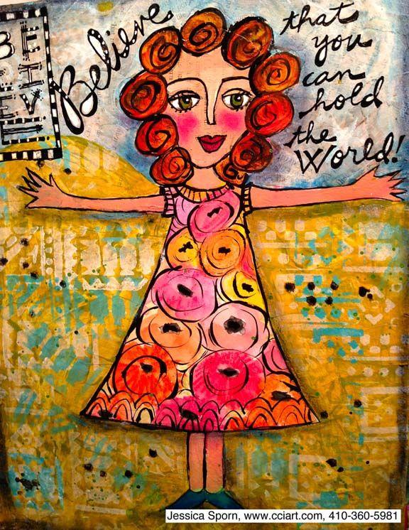 Jessica Sporn Designs: Rescuing an Art Journal Page