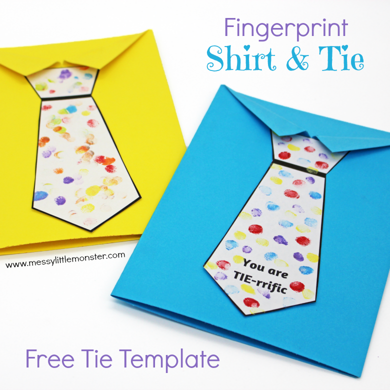 Father 39 S Day Tie Card With Free Printable Tie Template A Fun Shirt And Tie Craft Father S Day Card Template Kids Fathers Day Crafts Easy Fathers Day Craft