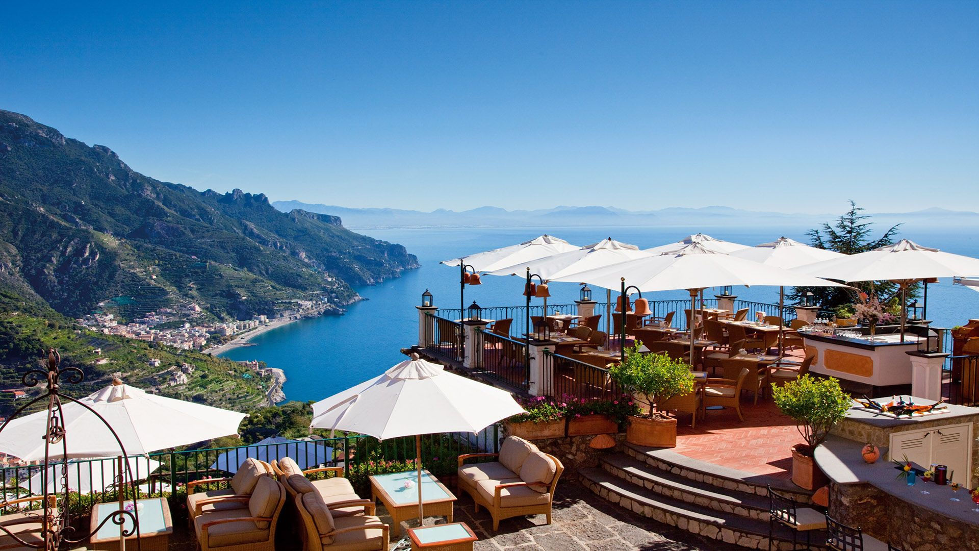 The Terrazza Belvedere At The Palazzo Avino Hotel In Ravello