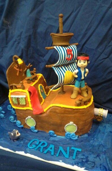 Jake and the Neverland Pirates Cake Disney Jr Boys Birthday