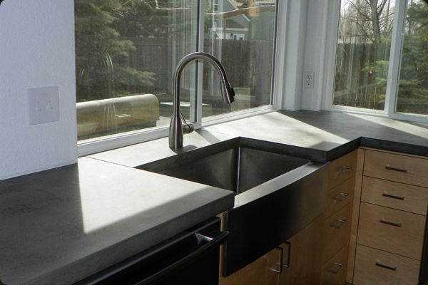 Concrete Sink Counter Tops For Kitchen Concrete Countertops Concrete Kitchen Countertops