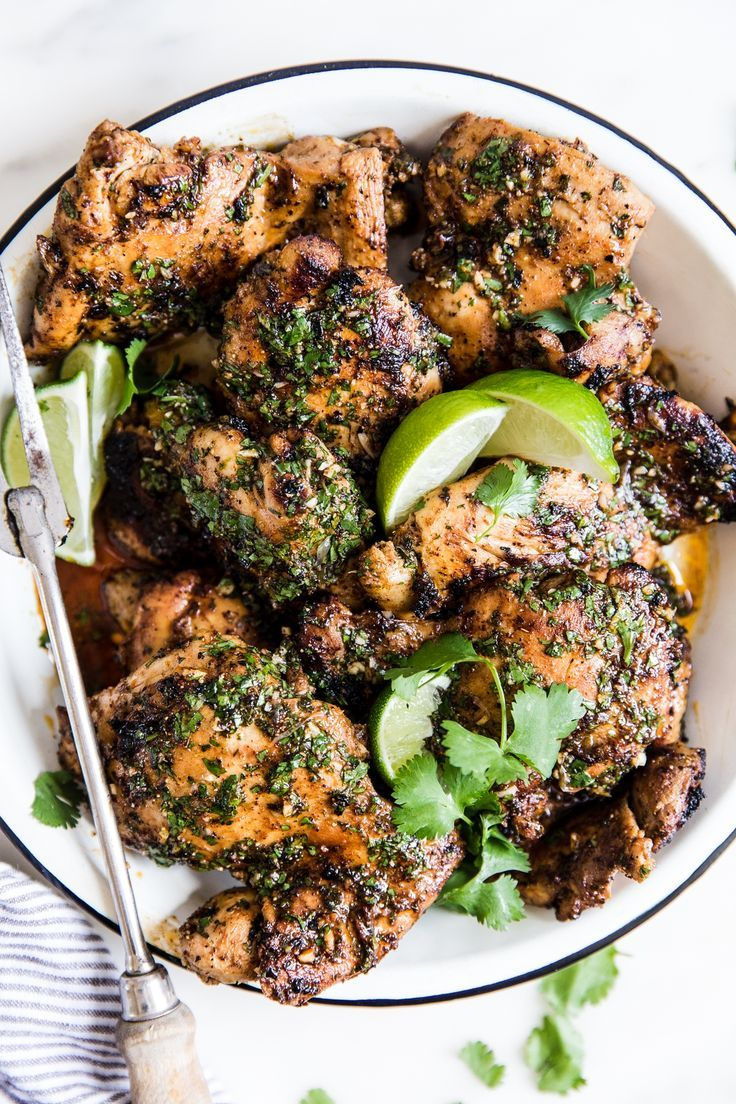Cilantro Lime Chicken Thighs | The Modern Proper
