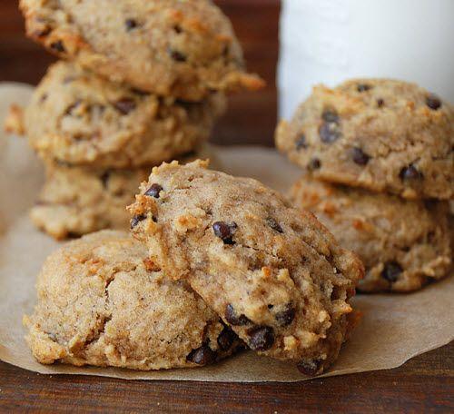 Banana Chocolate Cookies (w/ almond flour)