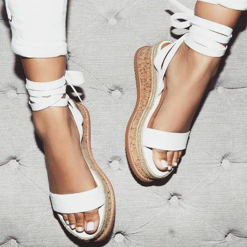 fe3bd65e0 (adsbygoogle = window.adsbygoogle || []).push({});Lace Up Fastening, Single  Front Strap And Flat Wedge With Espadrille Trim. Heel Height: 2.5