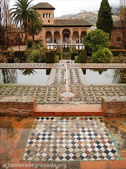 Alhambra : Garden of the Partal - Granada, Spain
