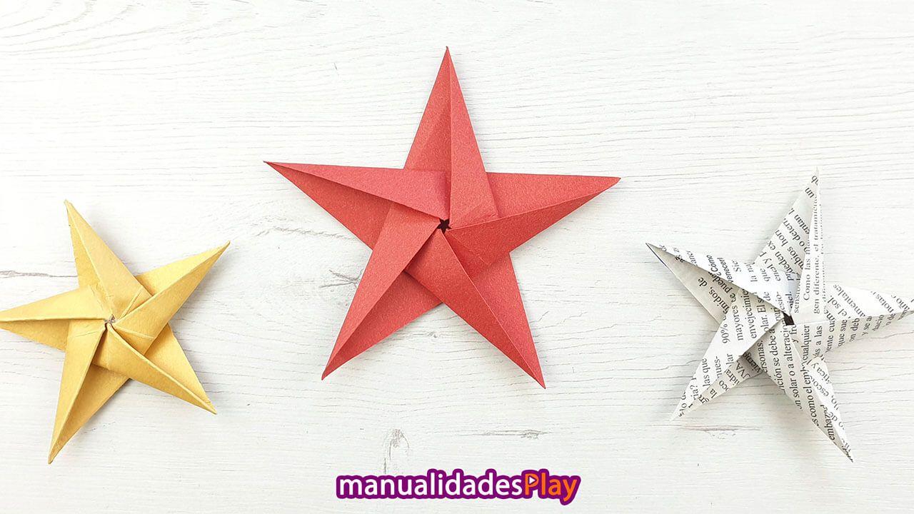 Como Hacer Una Estrella De Papel Facil Para Navidad En 2020 Con Imagenes Estrellas De Origami Estrellas De Navidad Navidad De Origami