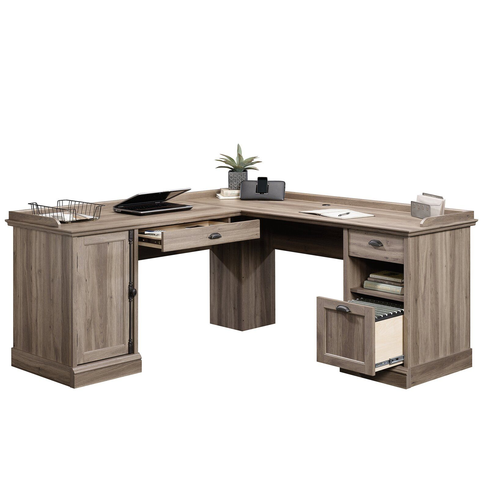 Bowerbank 3 Drawer LShaped Executive Desk in 2020 L