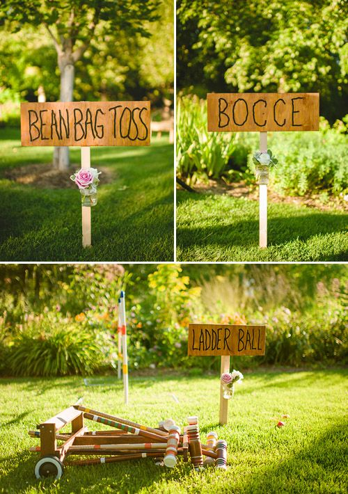 Real Weddings 1920 S Inspired Vintage Wedding Junebug Weddings Summer Wedding Outdoor Bbq Party Games Wedding Games